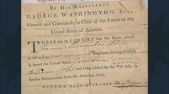 S12 Ep19: Appraisal: Revolutionary War Discharge Signed by W