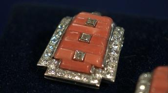 S21 Ep8: Appraisal: Cartier Art Deco Coral & Diamond Lapel C