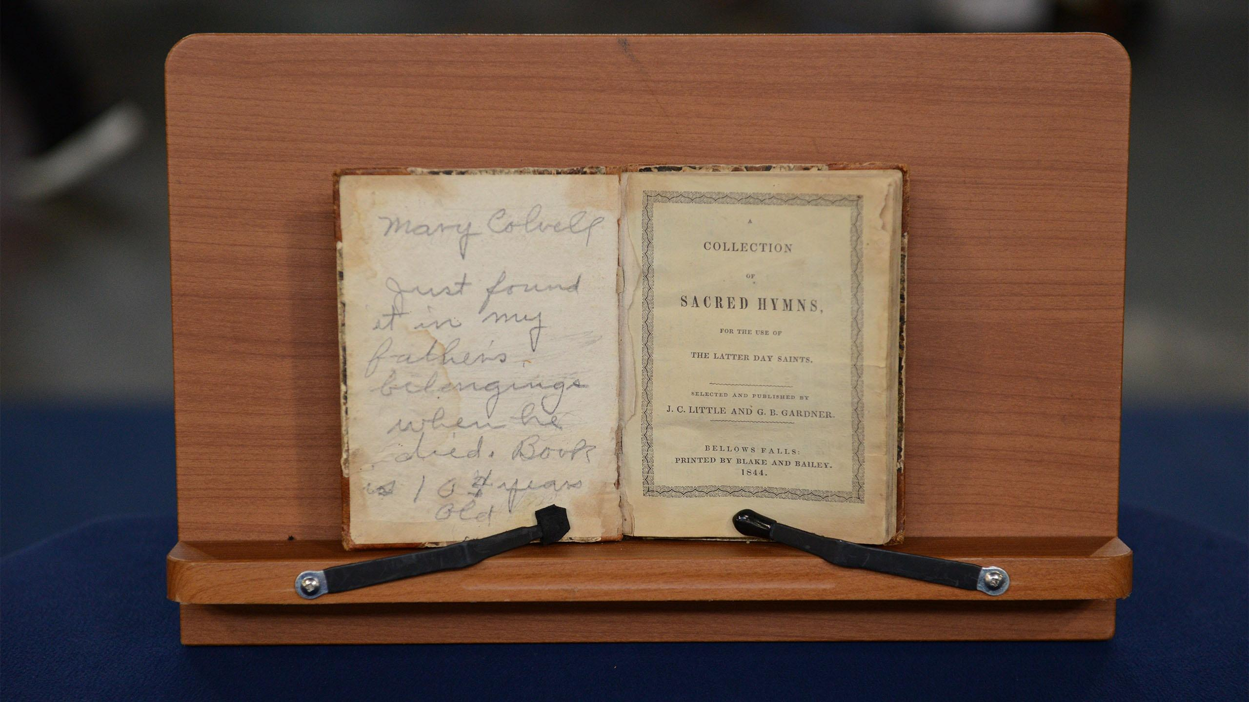"Appraisal: 1844 ""Bellows Falls"" Hymnal Book"