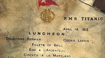 Appraisal: 1912 Titanic Luncheon Menu
