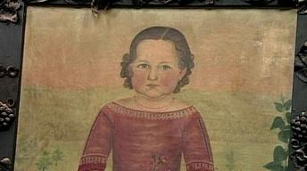 Appraisal: Folk Art Portrait, ca. 1845