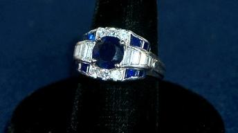 Appraisal: Tiffany Sapphire & Diamond Ring & Bracelet