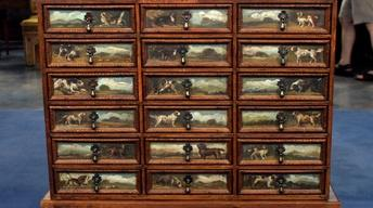 S16 Ep19: Appraisal: Painted Collector's Cabinet, ca. 1900