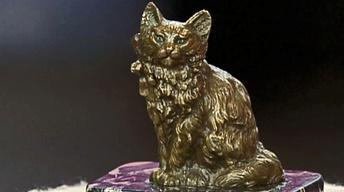 "Appraisal: Austrian ""Naughty"" Cat Bronze, ca. 1900"