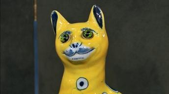Appraisal: Émile Gallé Faience Cat, ca. 1890