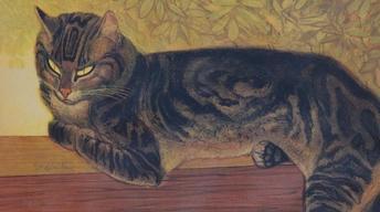 "S16 Ep19: Appraisal: 1909 Theophile Steinlen ""Summer Cat"" Li"