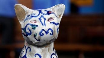 Appraisal: Walter Anderson Pottery Cat, ca. 1945
