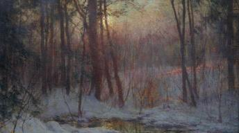 Appraisal: Walter Launt Palmer Painting, ca. 1900