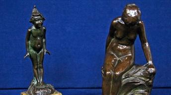 Appraisal: 1920s Edward Berge Bronze Sculptures