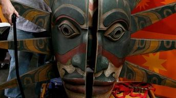 Appraisal: Kwakiutl-Style Transformation Mask
