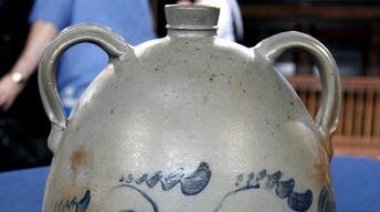 Appraisal: 19th-Century Eberhart Stoneware Jug & Jar