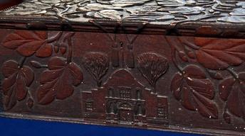 Appraisal: Carved Texas Folk Art Box, ca. 1890