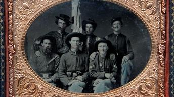 Appraisal: Civil War Federal Group Tintype, ca. 1865