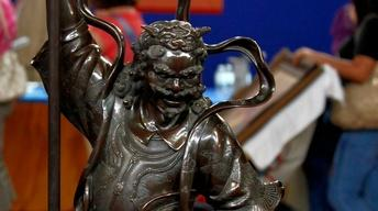 Appraisal: Japanese Bronze Mythical Figure, ca. 1880