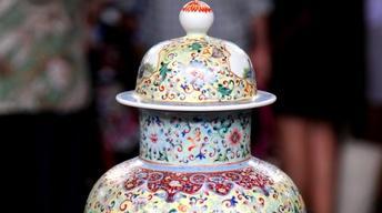 Appraisal: Chinese Enameled Porcelain Vase, ca. 1900