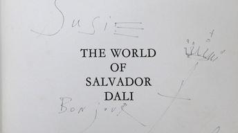 Appraisal: 1965 Salvador Dali Ink Drawing in Book