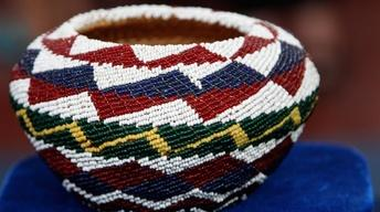 Appraisal: Paiute Beaded Baskets, ca. 1920