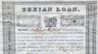 Appraisal: 1836 Stephen Austin-Signed Texian Loan