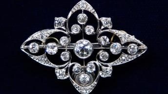 Appraisal: Edwardian Diamond Pin, ca. 1920