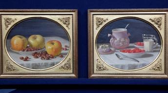Appraisal: 1865 J.F. Francis Still Life Oil Paintings