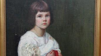 Appraisal: Lilla Cabot Perry Oil Portrait, ca. 1915