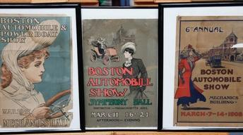 Appraisal: Boston Automobile Posters, ca. 1905
