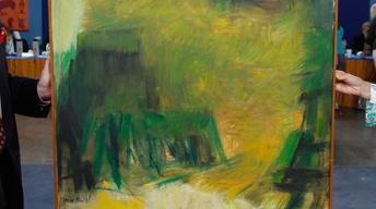 "Appraisal: Marie Hull ""Yellow Hill"" Oil Painting, ca. 1960"