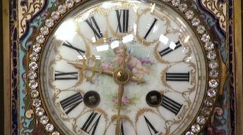 Appraisal: French Tiffany Clockset