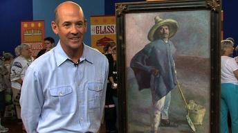"Interview:  1904 Diego Rivera ""El Albañil"" Oil Painting"