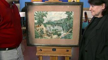 Appraisal: André Dunoyer de Segonzac Oil, ca. 1930