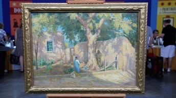 Appraisal: Joseph Henry Sharp Oil Painting, ca. 1920