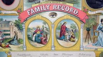 Appraisal: Family Record with Photos, ca. 1865