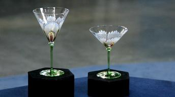 Appraisal: Two Theresienthal Art Nouveau Goblets, ca. 1900