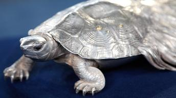 Appraisal: Japanese Silver Tortoise, ca. 1900
