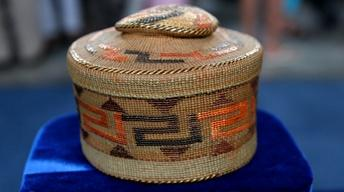 Appraisal: Tlingit Spruce Root Rattle-Top Basket