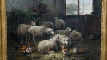 S12 Ep11: Appraisal: Cornelis van Leemputten Oil Painting, c