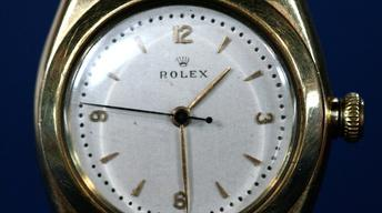 "Appraisal: Rolex ""Bubbleback"" Wristwatch, ca. 1940"