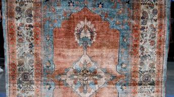 Appraisal: Late 19th-Century Heriz Silk Rug