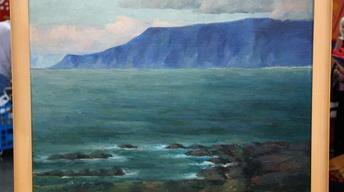 Appraisal: Jón Stefánsson Oil Painting, ca. 1930