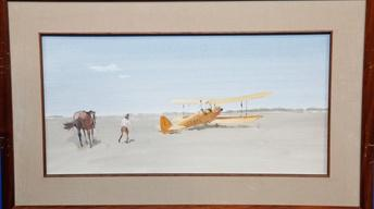 "Appraisal: ""Out of Africa"" Paintings & Letter, ca. 1985"