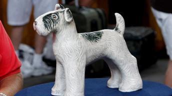 Appraisal: Weller Dog Lawn Ornament, ca. 1925