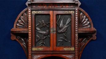Appraisal: 1884 Cincinnati-Carved Curio Cabinet