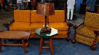 Appraisal: 1933 Four Pieces of Molesworth and Lamp