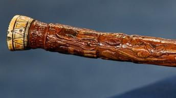 Appraisal: 1881 Carved & Polychromed Cane