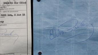 Appraisal: 1959 Elvis Presley Autographs