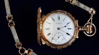 Appraisal: E. Howard Watch & Gold Quartz Chain