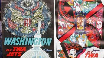 Appraisal: David Klein TWA Posters, ca. 1960
