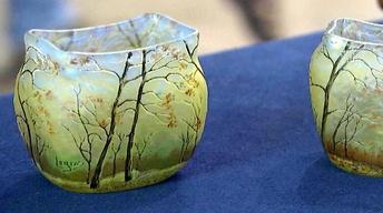 Appraisal: Legras Cameo Glass Vases, ca. 1905
