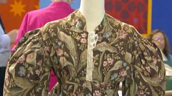 Appraisal: Early 19th C. Dress with Colonial Fabric