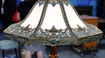 Appraisal: Early 20th C. Bradley & Hubbard Lamp